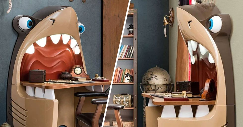 Parents Are Obsessed With This Cleverly Designed Shark Desk for Kids