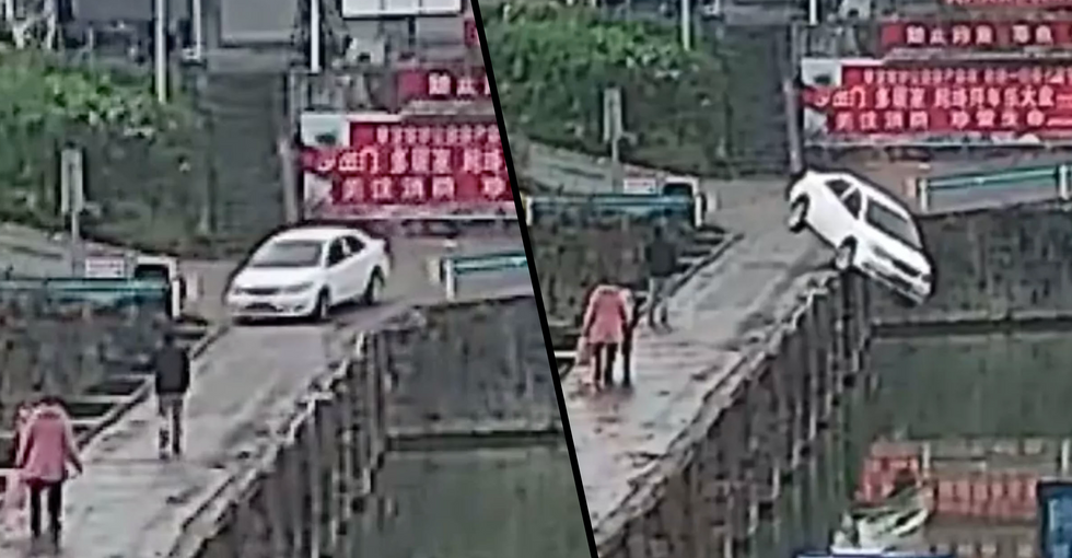 Man Passes Driving Test and Immediately Drives Into A Canal