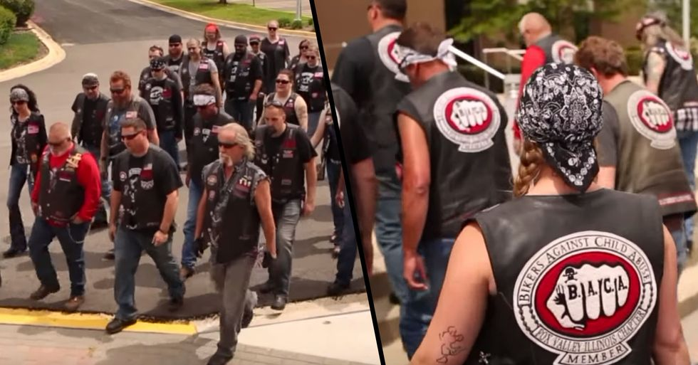 Biker Gang Walks Kids Into Court to Confront Their Abusers