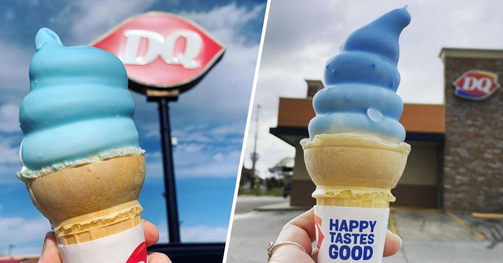 Dairy Queen's New Soft-Serve Cones Come With a Crunchy Cotton-Candy Shell