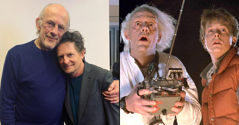 """Michael J. Fox and Christopher Lloyd Have """"Back to the Future"""" Reunion"""