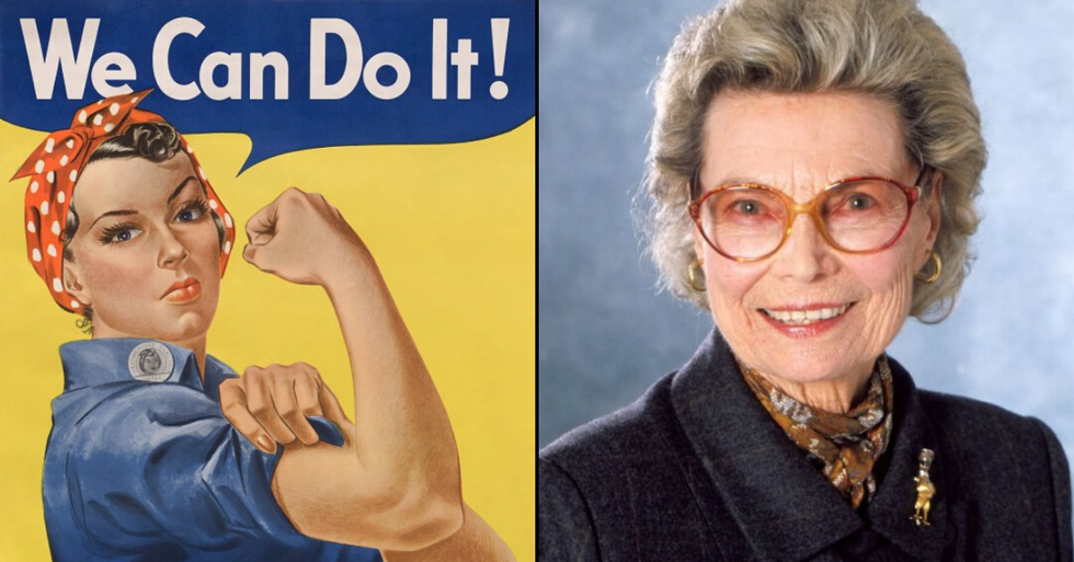 "Rosie the Riveter Who Inspired ""Get Women Working"" Poster Has Died Aged 95"