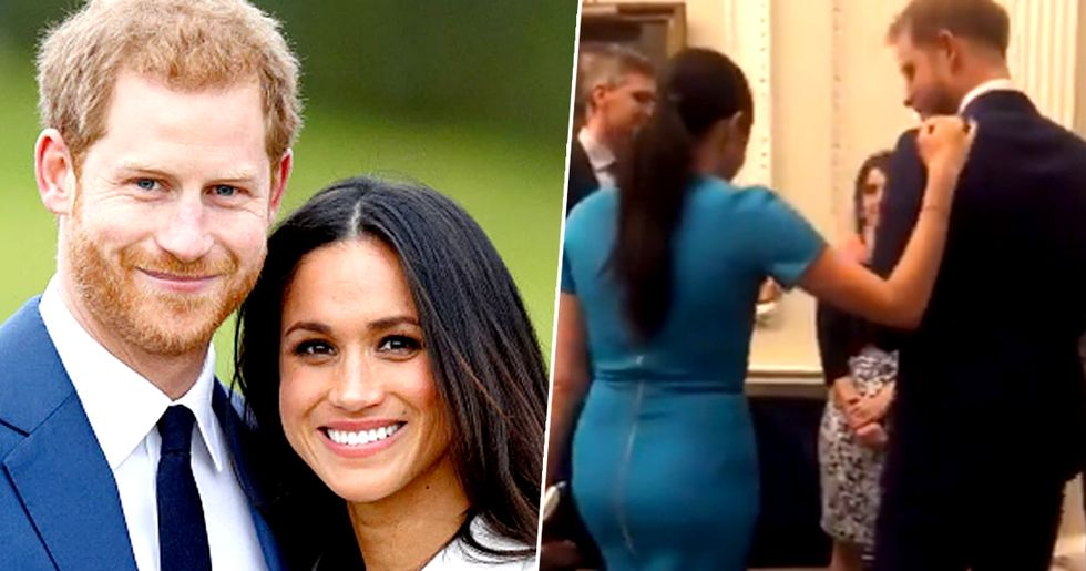Meghan Markle Sends Twitter Into Meltdown for 'Pushing' Harry out the Way