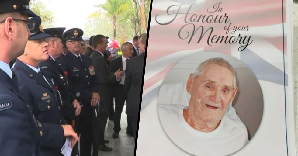Hundreds of Strangers Attend Funeral of 95-Year-Old Veteran Who Had No Family