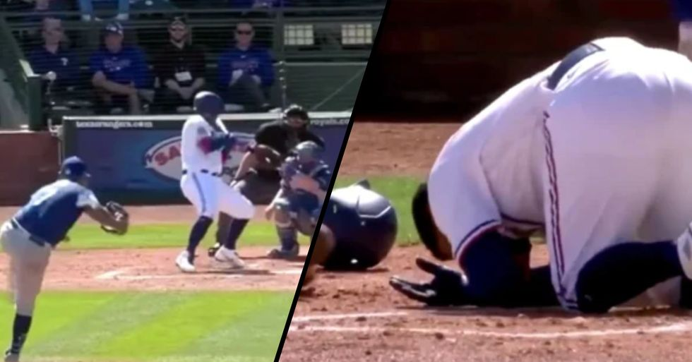 Texas Rangers Baseball Player Hospitalized After Being Hit in Face by 152kph Fastball