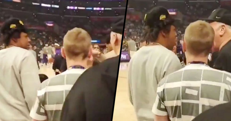 Jay-Z Shook off a Guy Who Got Too Comfortable at Lakers Game and It Was Caught on Camera