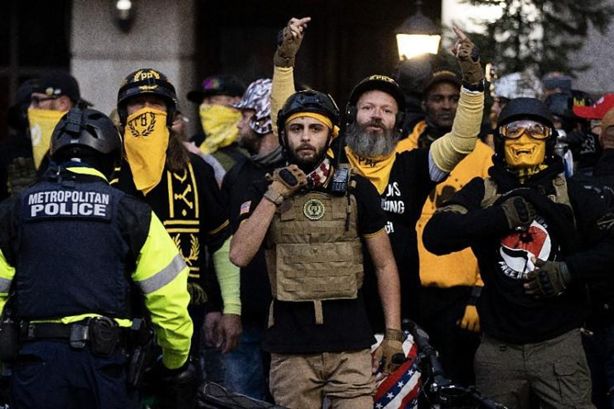 Proud Boys sued by historic Black church after leader admits to burning Black Lives Matter sign