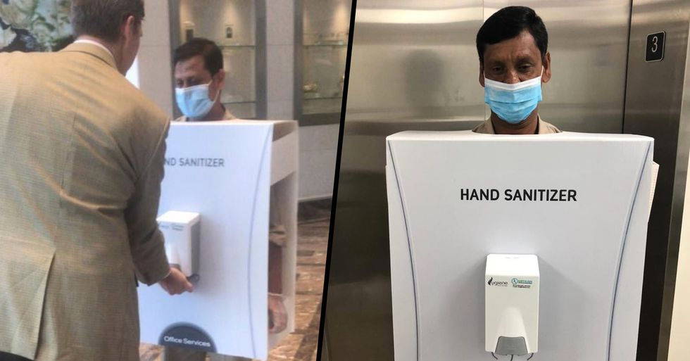 'The World's Most Valuable Company' Used a Migrant Worker as a Human Hand Sanitizer