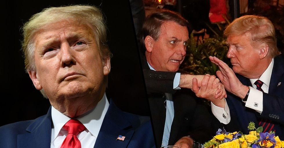 Brazilian President Who Shook Trump's Hand Tests Positive for Coronavirus