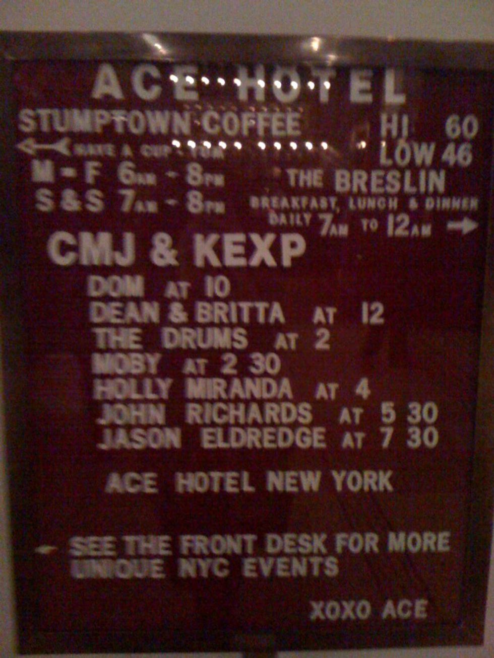 The Ace Hotel Gets into the CMJ Groove