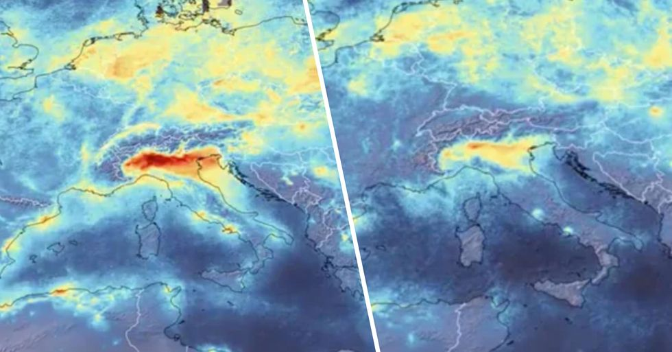 Footage Shows Huge Decline in Pollution Over Italy Amid Coronavirus Lockdown