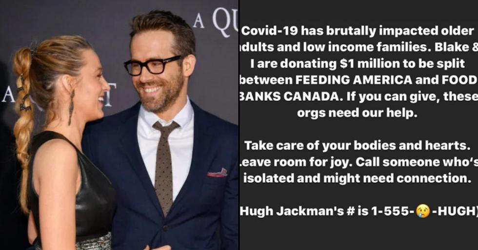 Blake Lively and Ryan Reynolds Make $1M Food Bank Donation During Coronavirus Outbreak