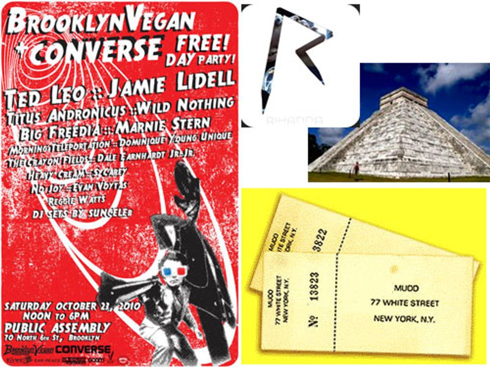 Mudd Club Reunion + CMJ Weekened Fun in Today's Eight Items or Less