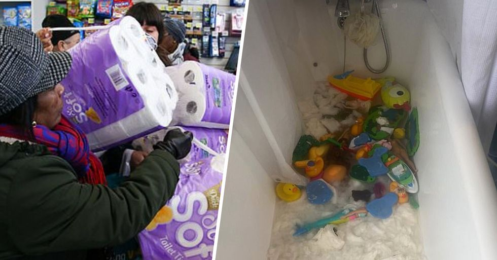Mom Buys Pack of 18 Toilet Paper Rolls and Her Kids Put Every Single One in the Bathtub