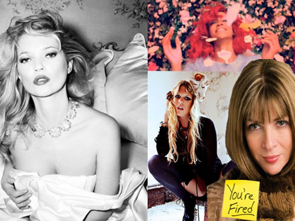 Anna Wintour's Sage Advice and Kate Moss' Album Cover in Today's Style Scraps
