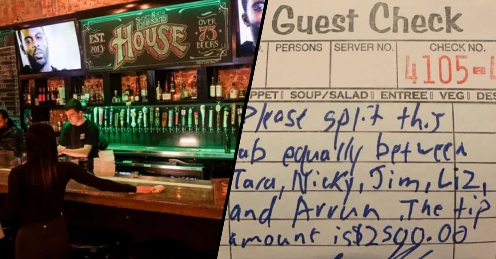 Customer Leaves $2,500 Tip for Bar Staff out of Work Due to Coronavirus