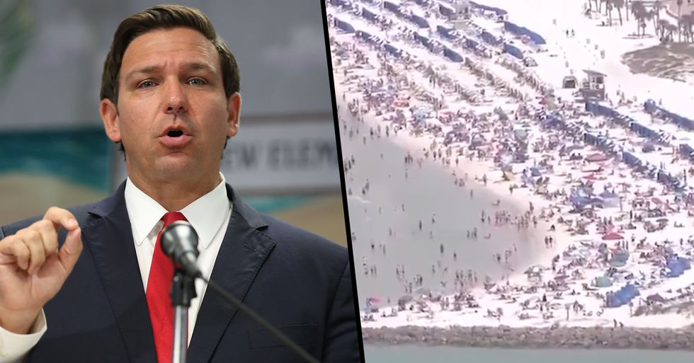 Florida Governor Refuses to Close Beaches to Block Mass Gatherings