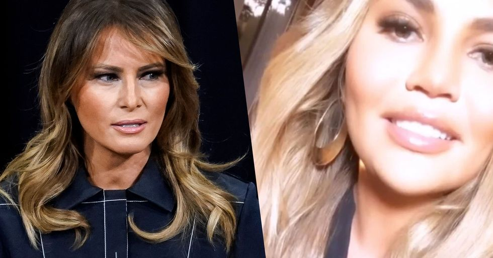 Chrissy Teigen Just Laid Into 'Wife Bot' Melania Trump in a Huge Twitter Rant