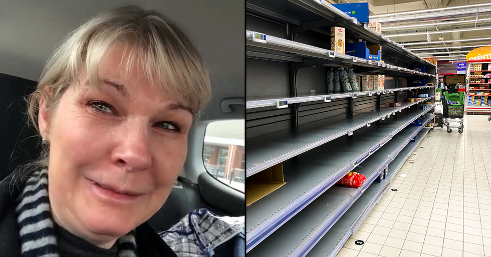 Nurse Breaks Down in Tears After Grocery Store Shelves are Completely Empty After 48 Hour Shift