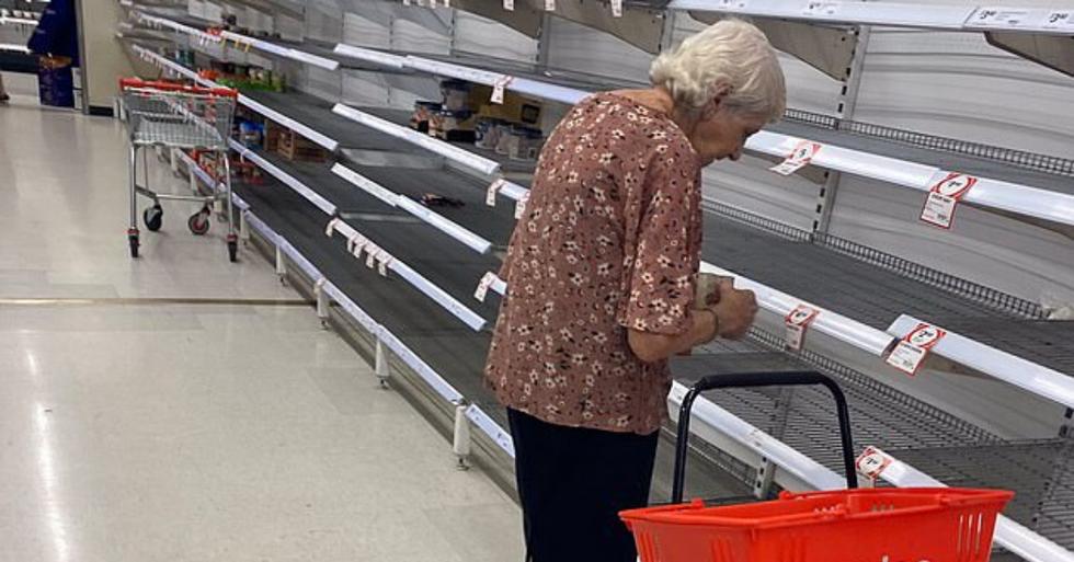 Heartbreaking Moment Elderly Woman is 'Left in Tears' Staring at Empty Shelves