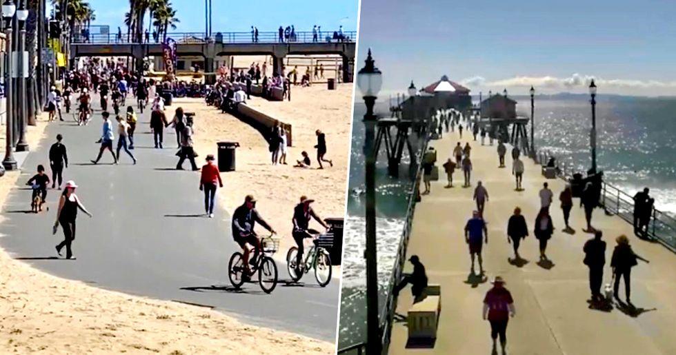 L.A. Beachgoers Hit the Sand and Trails Despite Beach Closures
