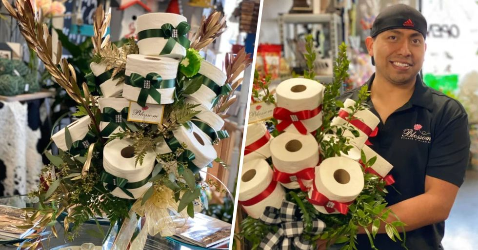Florist Creates Toilet Paper Bouquets as a Joke Until Demand for Them Goes Through the Roof