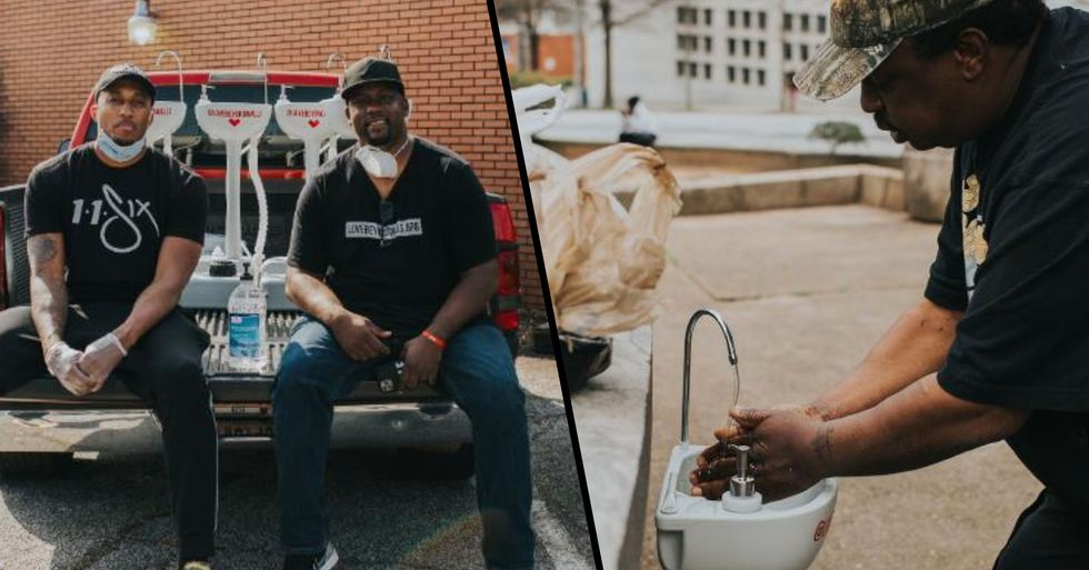 Former Homeless Man Provides Sinks and Soaps so Those Living on the Streets Can Wash Their Hands