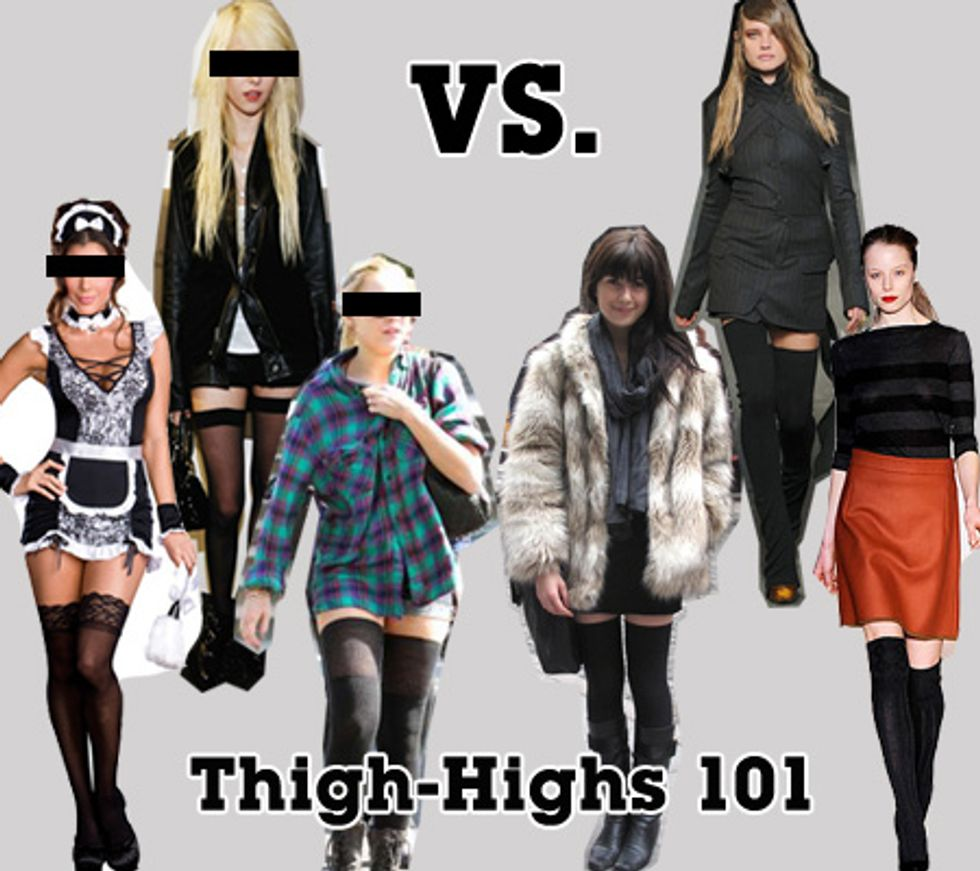 From Halloween To High Fashion: How To Make The Thigh-High Transition