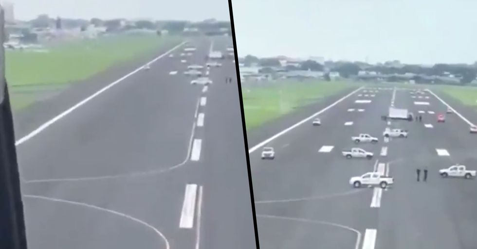 Ecuador Officials Physically Block Airport Runway to Stop Plane From Landing