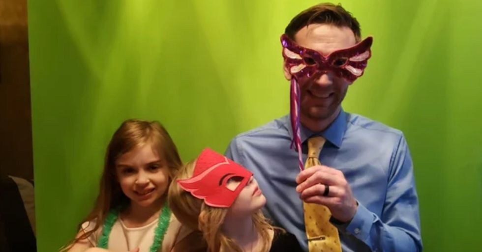 Dad Threw A Daddy-Daughter Dance For His Girls At Home After The School Dance Was Canceled