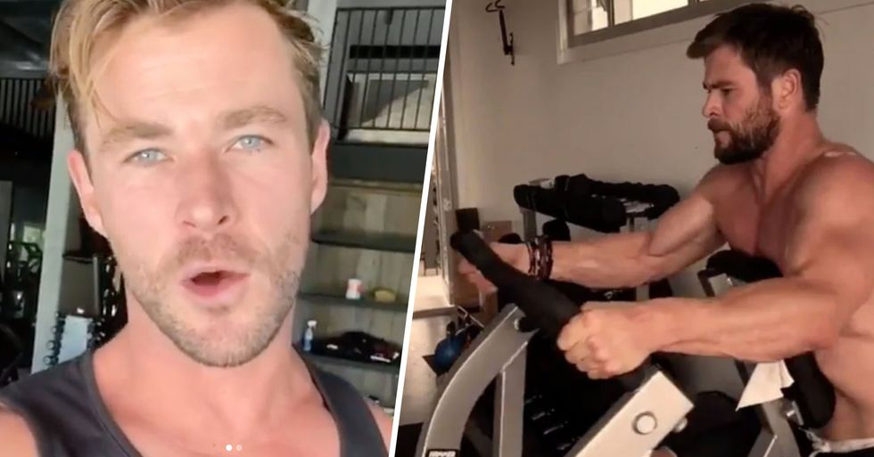 Chris Hemsworth Is Offering Free Virtual Workouts for the Next Six Weeks