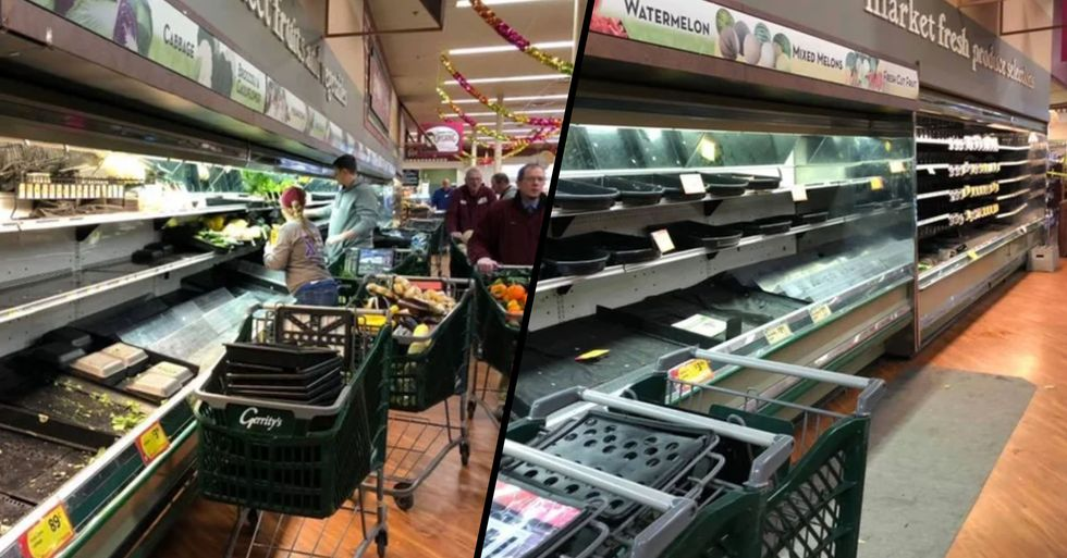 Woman Causes Outrage as She Coughs All Over Store's Fresh Produce Wasting $35k Worth of Food