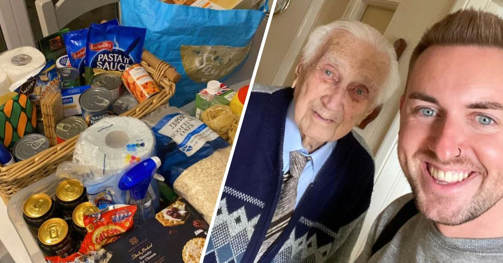 Grocery Store Worker Delivers Food to 99-Year-Old Man With No Supplies During Lockdown
