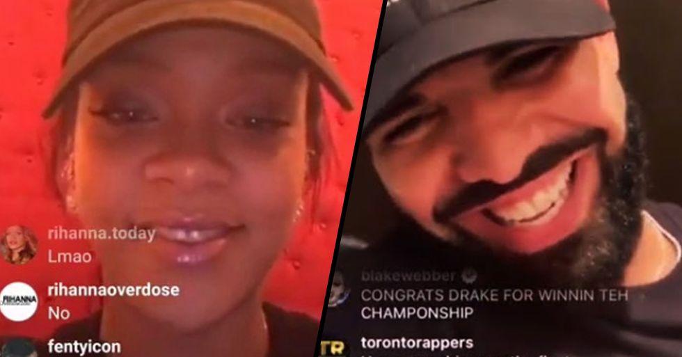 Rihanna and Drake Caught Flirting on Instagram Live