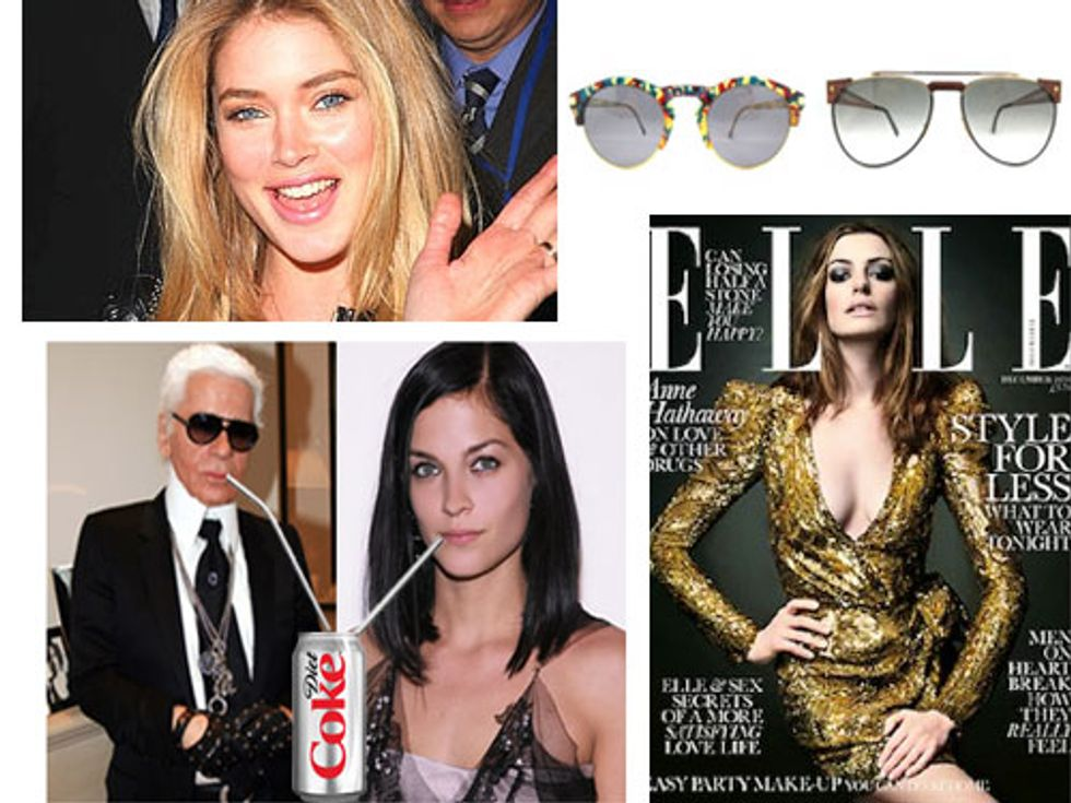 Doutzen Kroes Weds + Karl Lagerfeld and Leigh Lezark's Diet Coke Bond in Today's Style Scraps