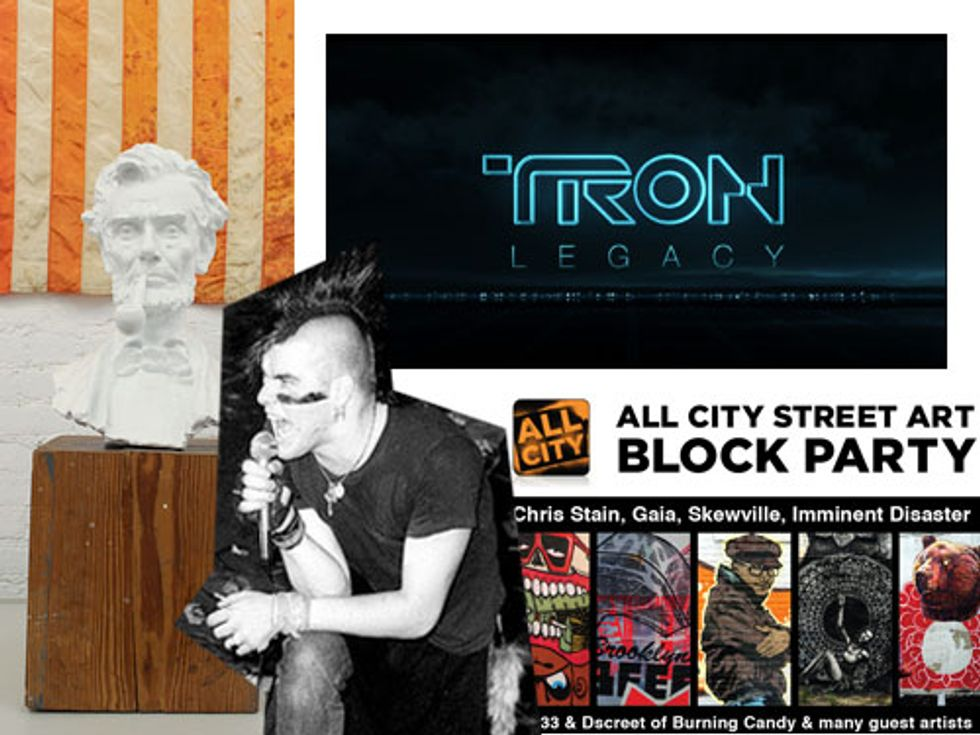 Tron Legacy the Ride + a Street Art Block Party in Today's Eight Items or Less
