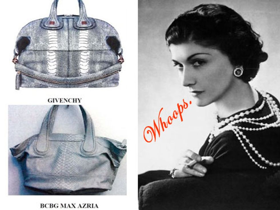BCBG Sued + Coco Chanel's Biggest Mistakes in Today's Style Scraps