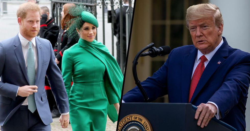 Donald Trump Says US Won't Pay $8 Million For Harry and Meghan's Security