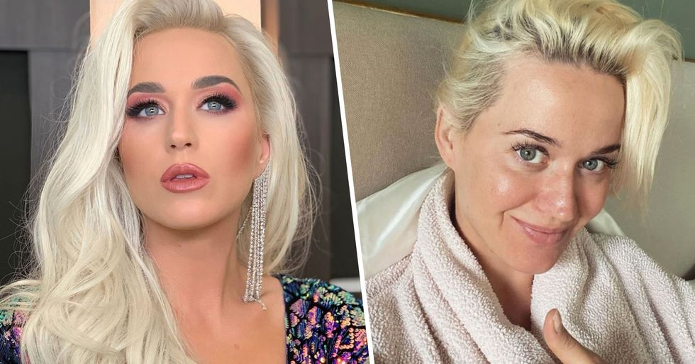 Katy Perry Looks Unrecognizable as She Goes Make-Up Free in Relatable Quarantine Post