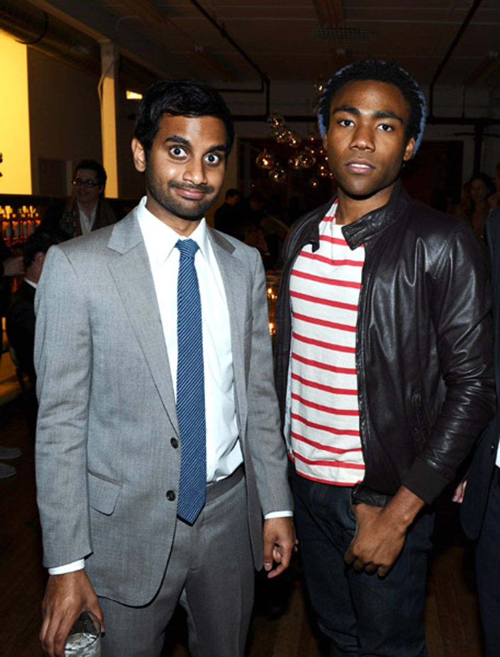 Aziz Ansari and Donald Glover Looking Sharp at Band of Outsiders Dinner