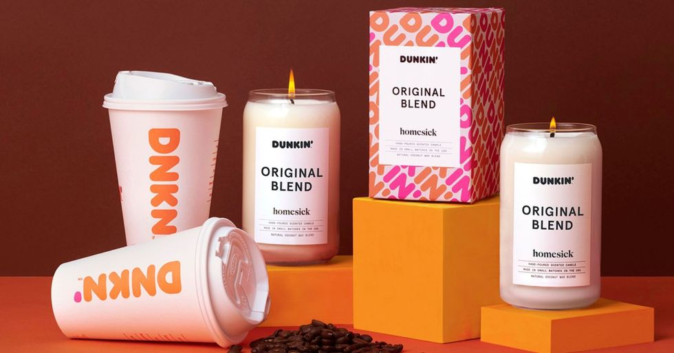 Dunkin' Donuts Just Released Coffee-Scented Candles and Suddenly Self-Isolation Doesn't Seem so Bad