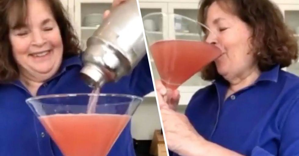 Ina Garten Made Herself a Massive Cosmopolitan at 9 A.M. Because 'It's Always Cocktail Hour in a Crisis'