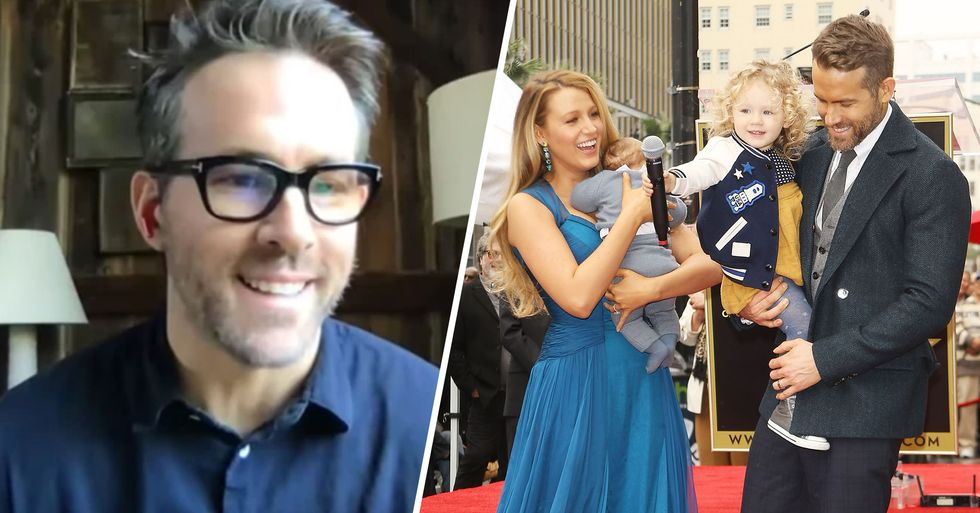 Staying Home With 3 Daughters, Ryan Reynolds Is Making Dresses and 'Mostly Drinking'