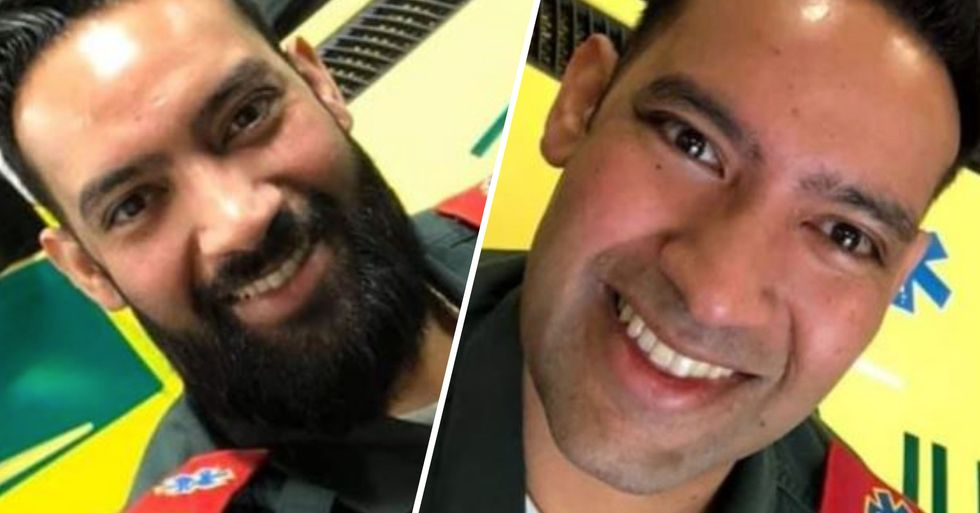 Muslim Paramedic Shaves off Beard to Protect Others by Wearing a Mask