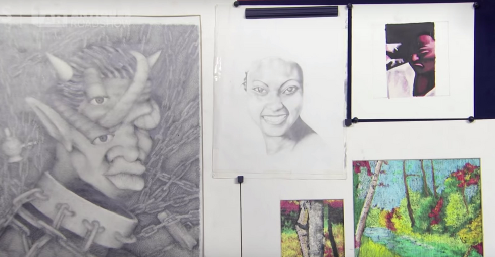 Kanye West's Seriously Impressive High School Art Was Just Appraised on 'Antiques Roadshow'