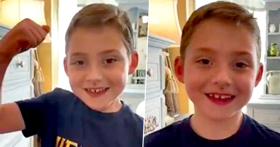 Six-Year Old With Cystic Fibrosis Has Massive Smile After Beating Coronavirus