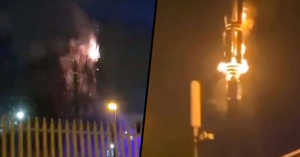 People Are Burning 5G Phone Masts After Bizarre Coronavirus Conspiracy Spreads Online
