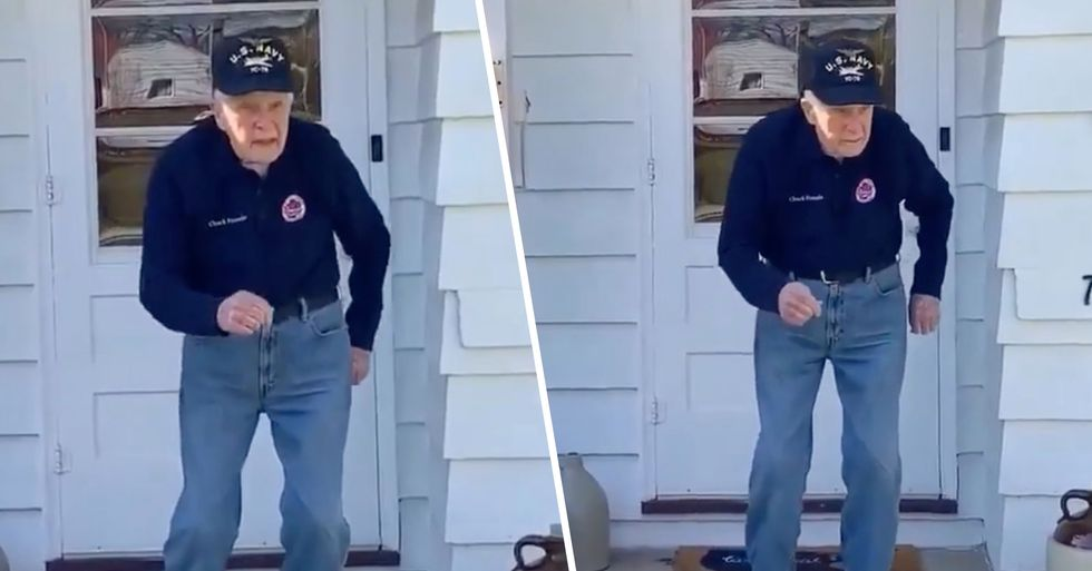 WWII Veteran Dances to Justin Timberlake's 'Can't Stop the Feeling' and the Pop Star Approves