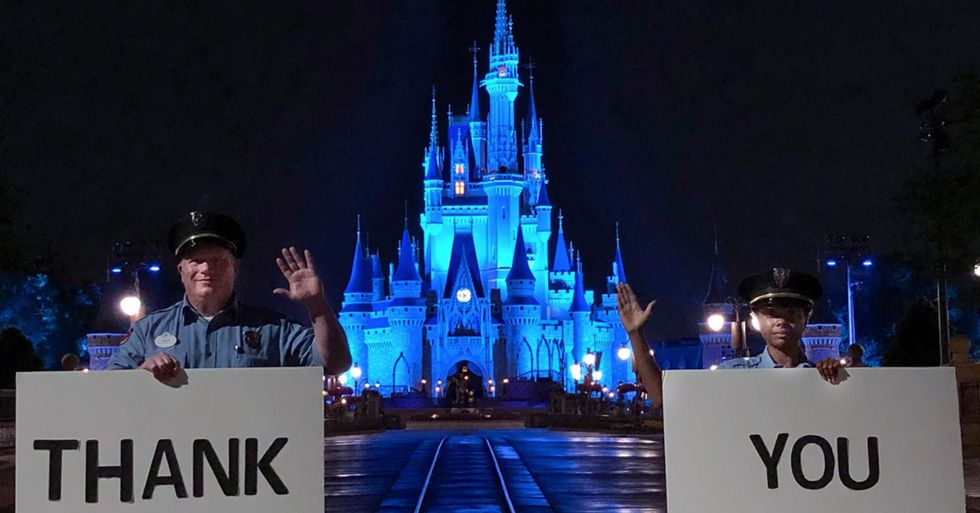 Cinderella's Castle at Disney Will Light Up Blue to Honor Healthcare Workers