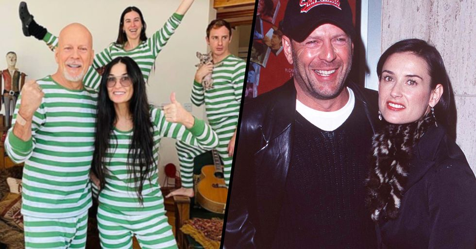 Exes Bruce Willis and Demi Moore Quarantine Together to Spend Time With Children